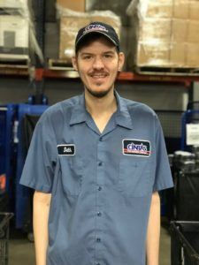 Seth in his Cintas uniform