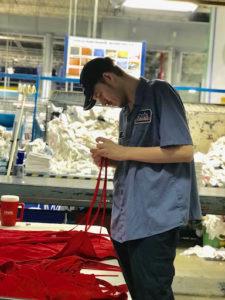 Seth at work at Cintas